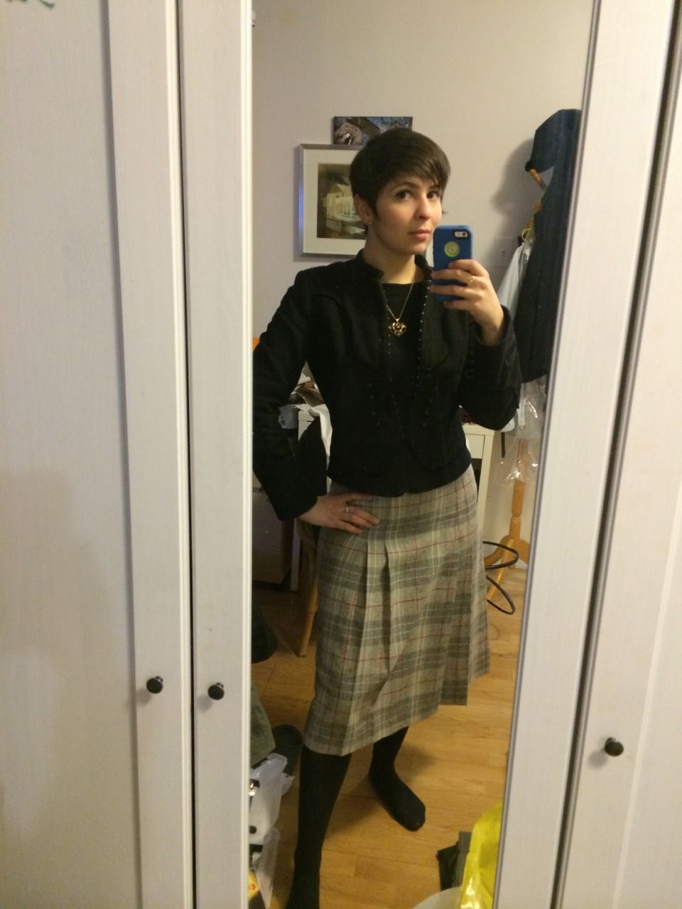 Work outfit the other day - trying out that trendy more demure skirt length.