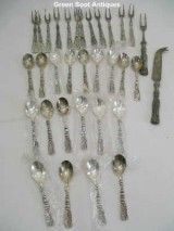 Silver Plated Cutlery Set With Servers,  Tassle  Silea C  for SALE, ONLY $150.00 on http://greenspotantiques.com