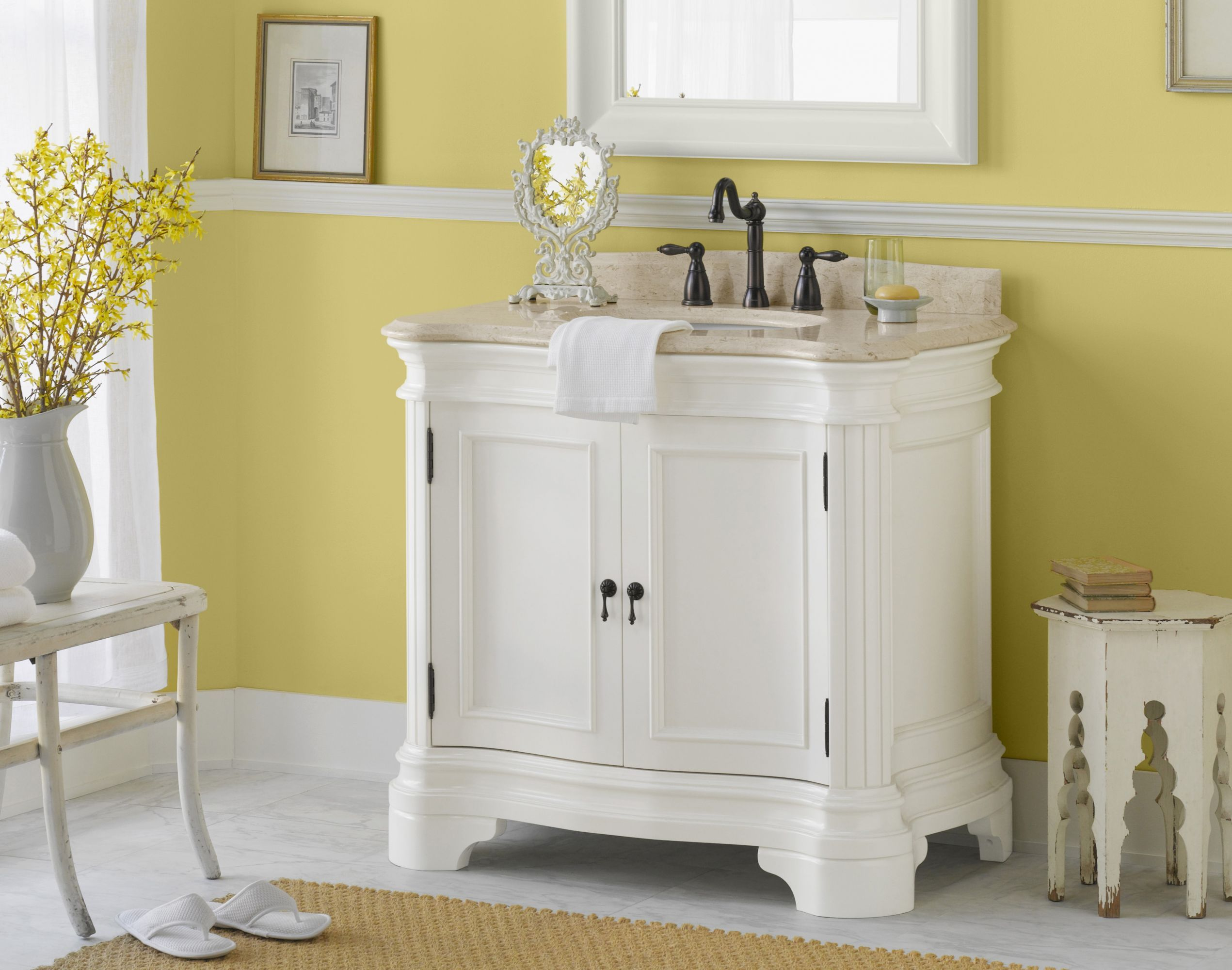 Genial White Vanity From Vintage Collection By #Ronbow