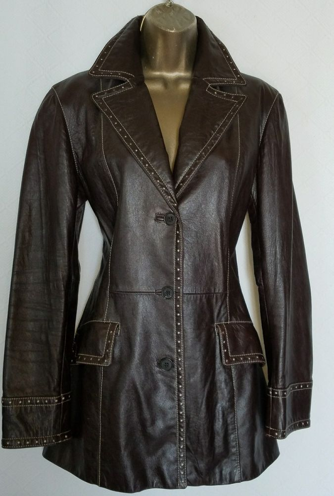 ICEBERG Very Rare Fitted Supple Leather Blazer Women's SZ 42 #Iceberg #Blazer