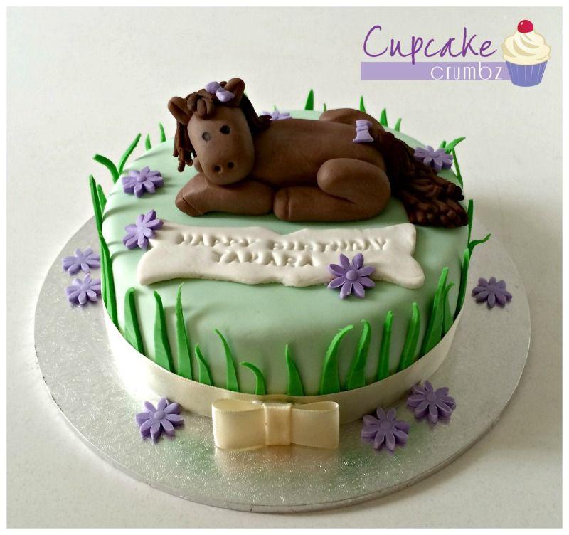 Horse themed birthday cake 6 chocolate mud cake with chocolate