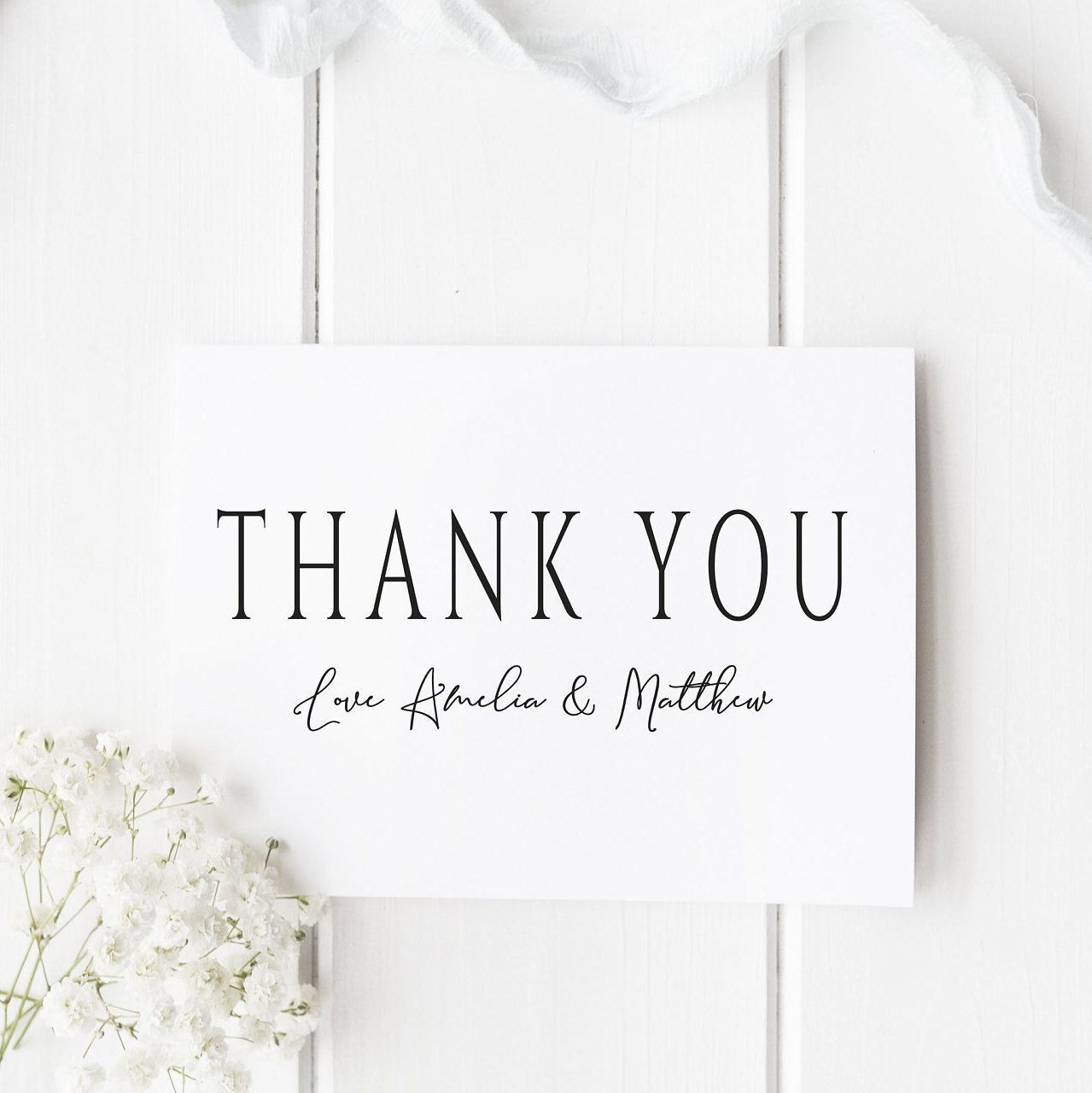 Personalised Wedding Thank You Cards Wedding Thank You Note