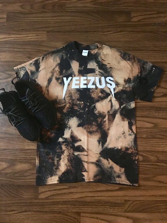 6908b485ca9 Kanye West Yeezus Tour Concert Merch Custom Bleached T Shirt Yeezy I Feel  like Pablo The Real Life of Pablo Yeezy MSG Kanye West