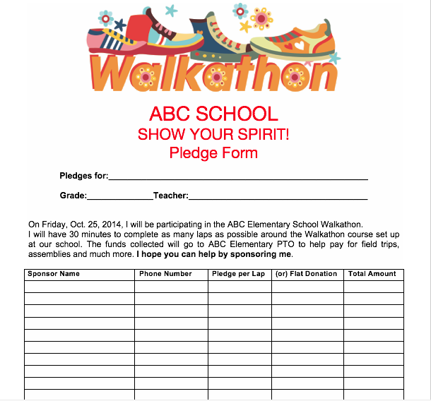 pledge sheets for church fundraising