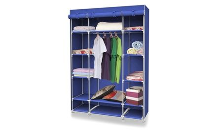 Collapsible Closet With 13 Total Shelves Makes It To Set Up Storage In A  Variety Places