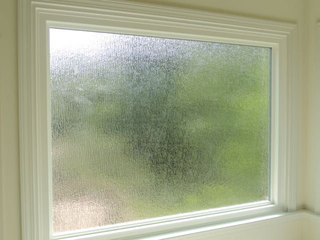 Rain obscure glass limits visibility while still be for Window privacy options