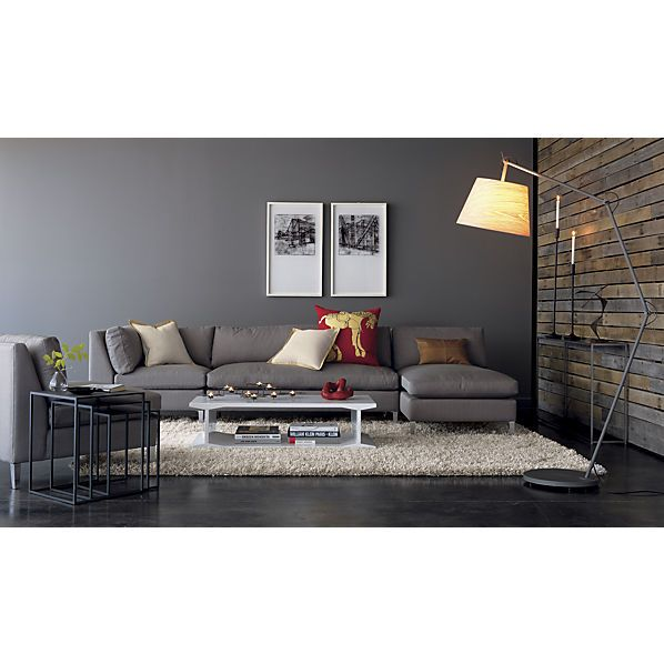 great sectional low to the ground and contemporary  sc 1 st  Pinterest : cb2 cielo sectional - Sectionals, Sofas & Couches