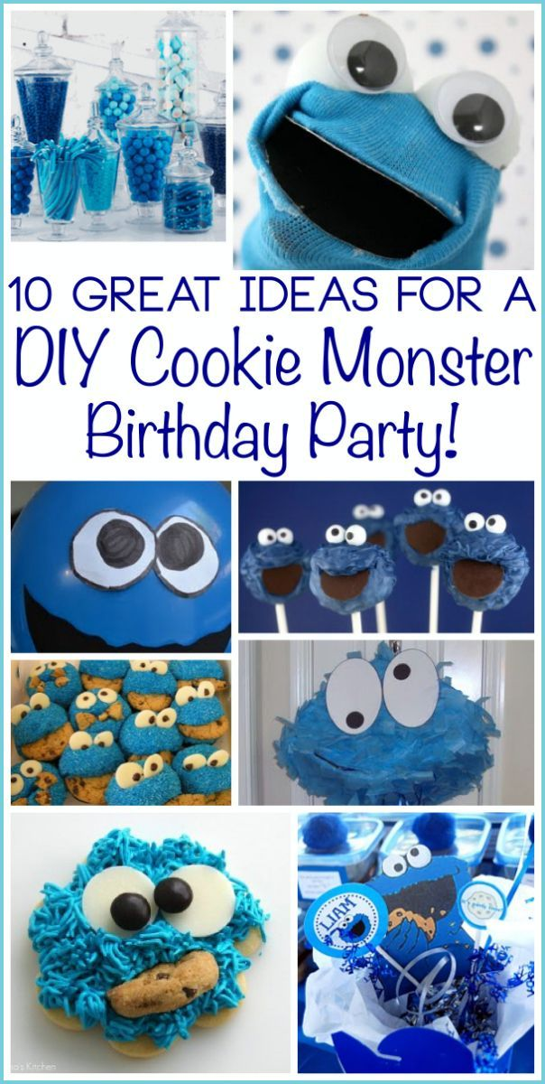 Cookie Monster Party Ideas For An Impressive Diy Birthday Party Cookie Monster Birthday Party Cookie Monster Party Monster Cookies