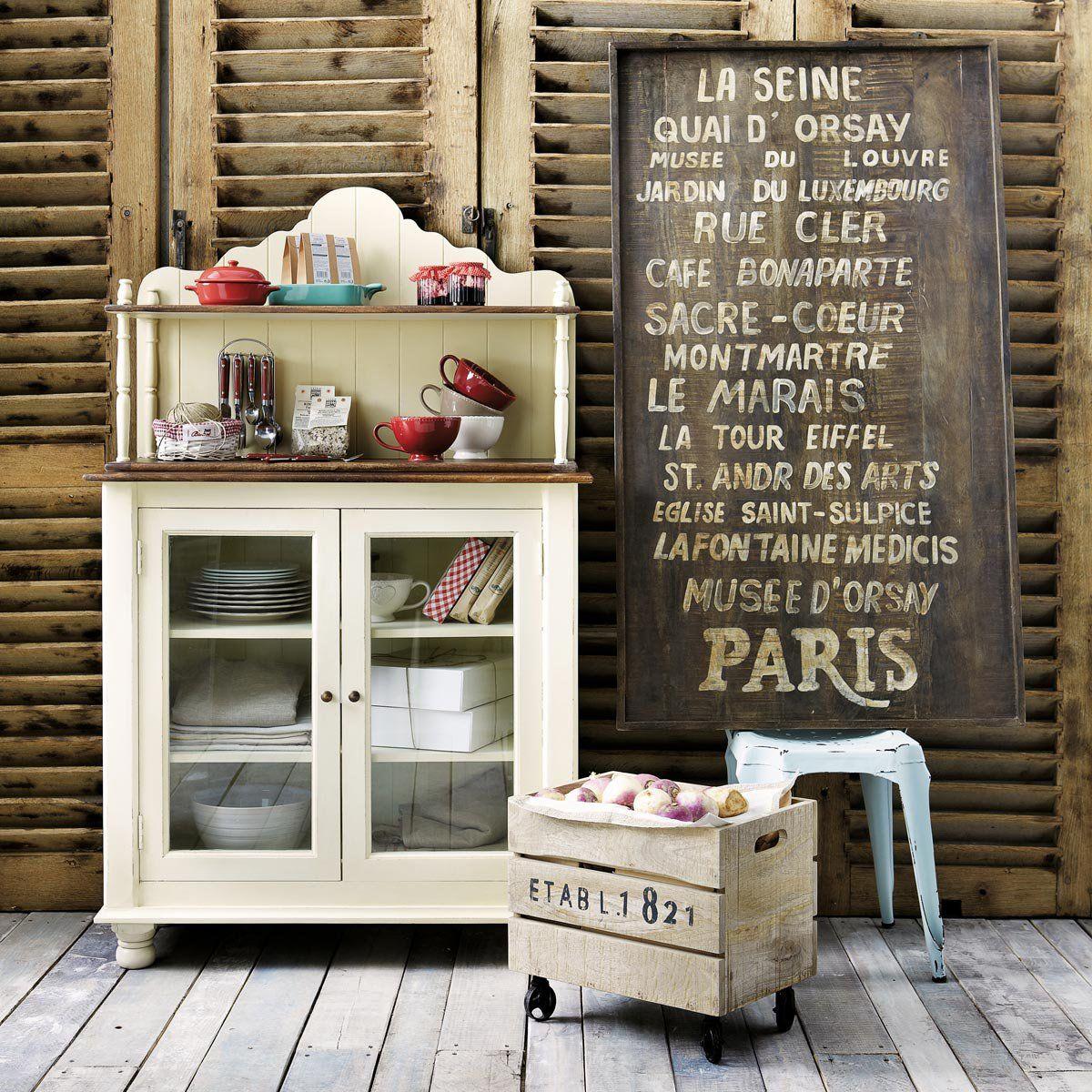 Buffets et vaisseliers d co caisse bois d co maison maison du monde - Renovation meuble industriel ...
