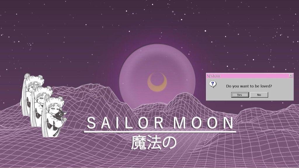 Who Dosen T Like Sailor Moon In 2020 Aesthetic Desktop Wallpaper Sailor Moon Wallpaper Sailor Moon Aesthetic
