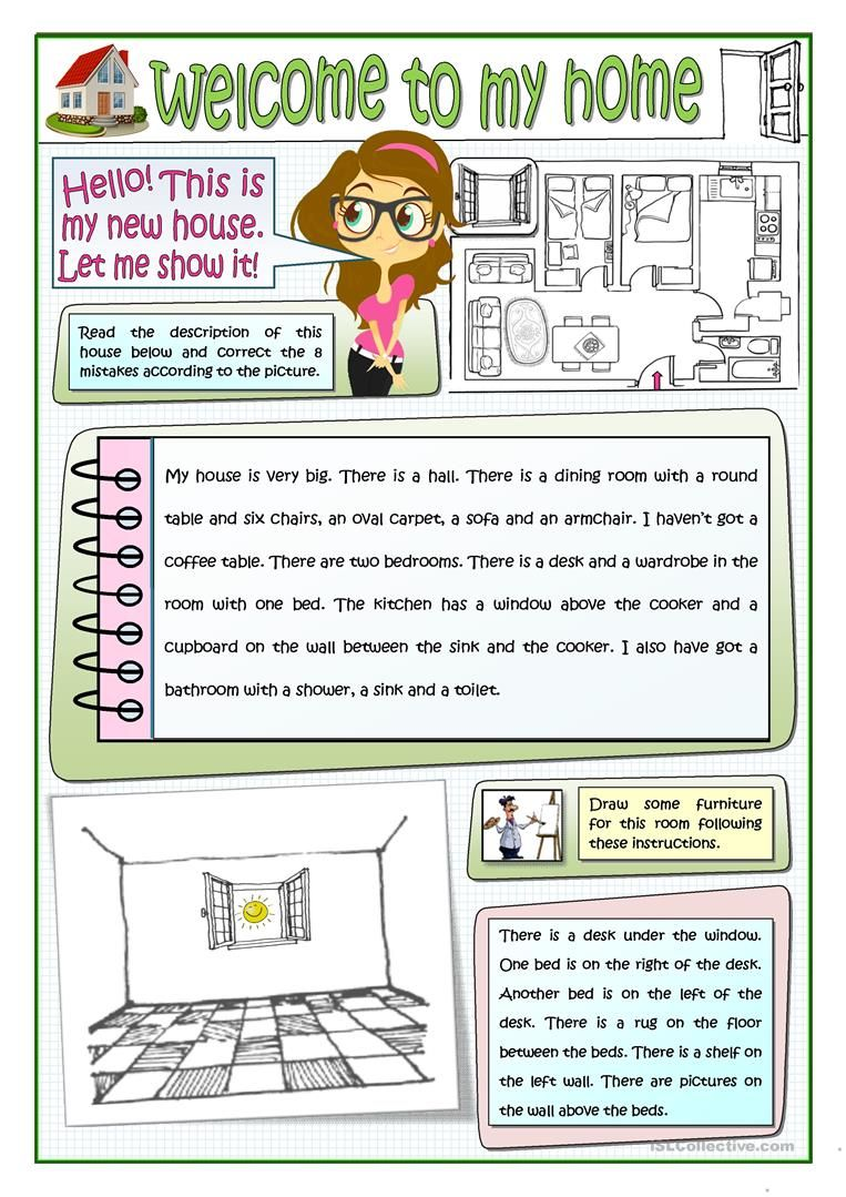 Welcome To My Home Worksheet Free Esl Printable Worksheets Made By