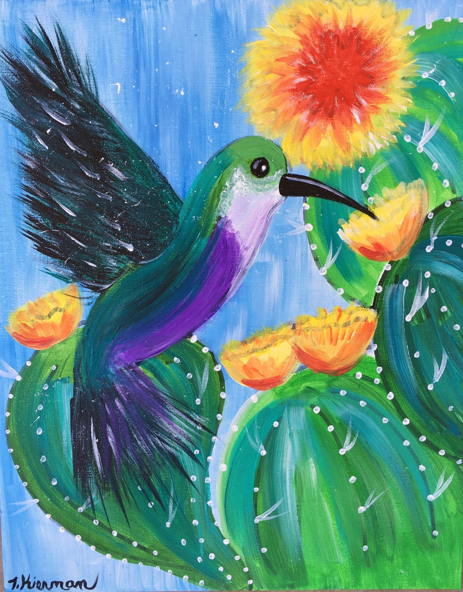 Hummingbird Painting - Step By Step Tutorial - For ...