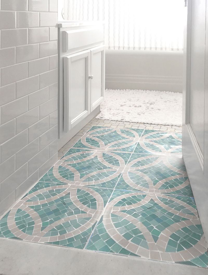 FloorAdorn is easy to use and can go over existing tiles, linoleum ...