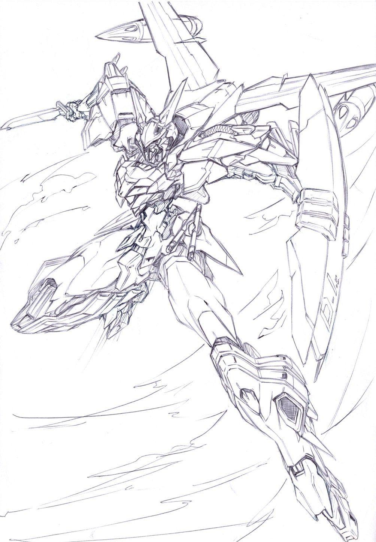 Astray Outframe Gundam art, Character drawing, Sketches