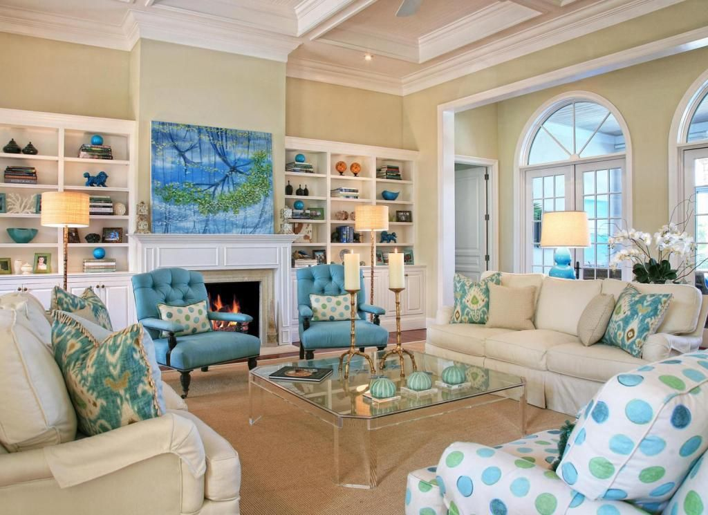 Coastal Theme Living Furniture Design | Living Room | Pinterest ...