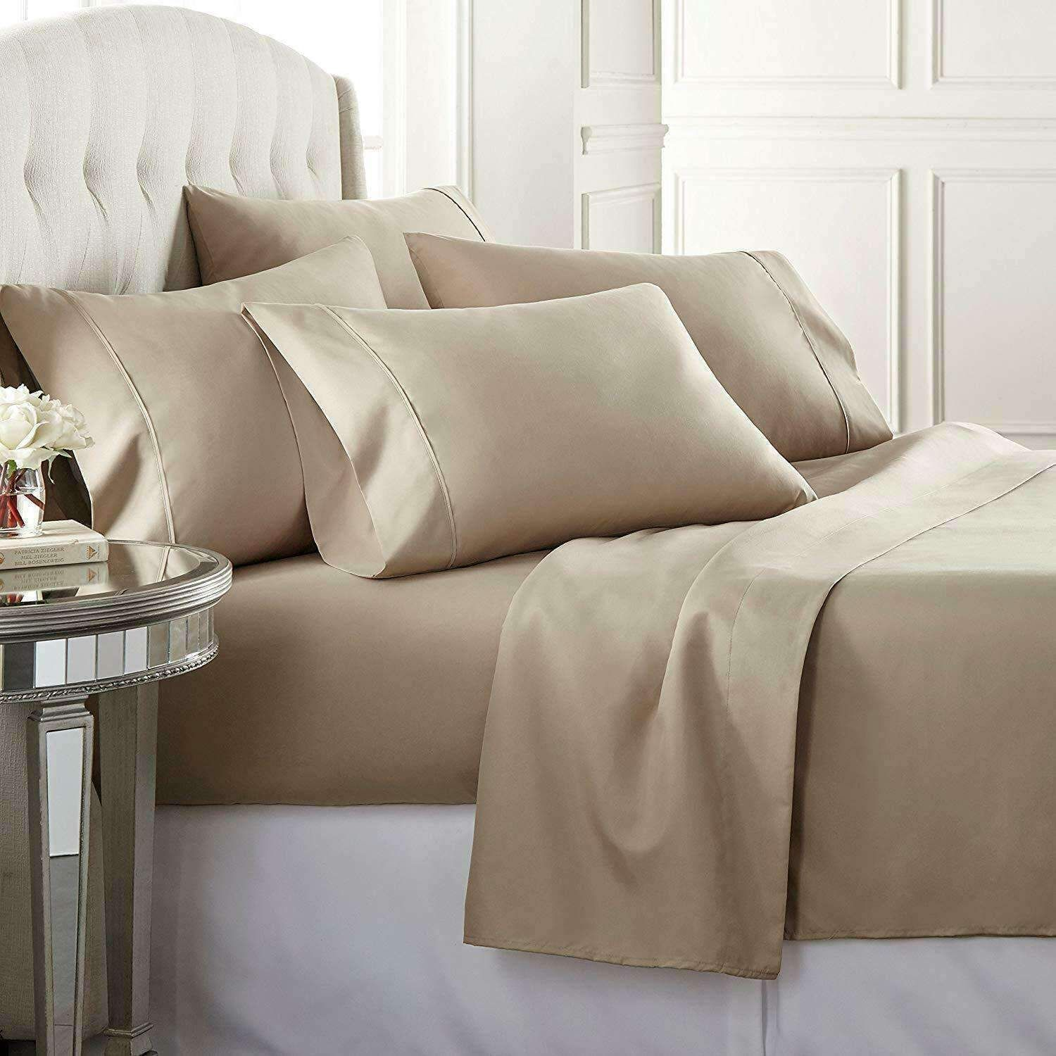 Queen Size 425 Thread Count 4 Piece Set Hotel Luxury Bed Sheets