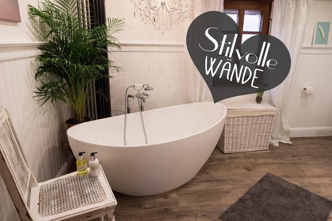 Wohlfühloase ♥ #badgestaltung #badetraum #holzverkleidung #landhausstil # Landhaus #wohndesign #skandinavischwohnen