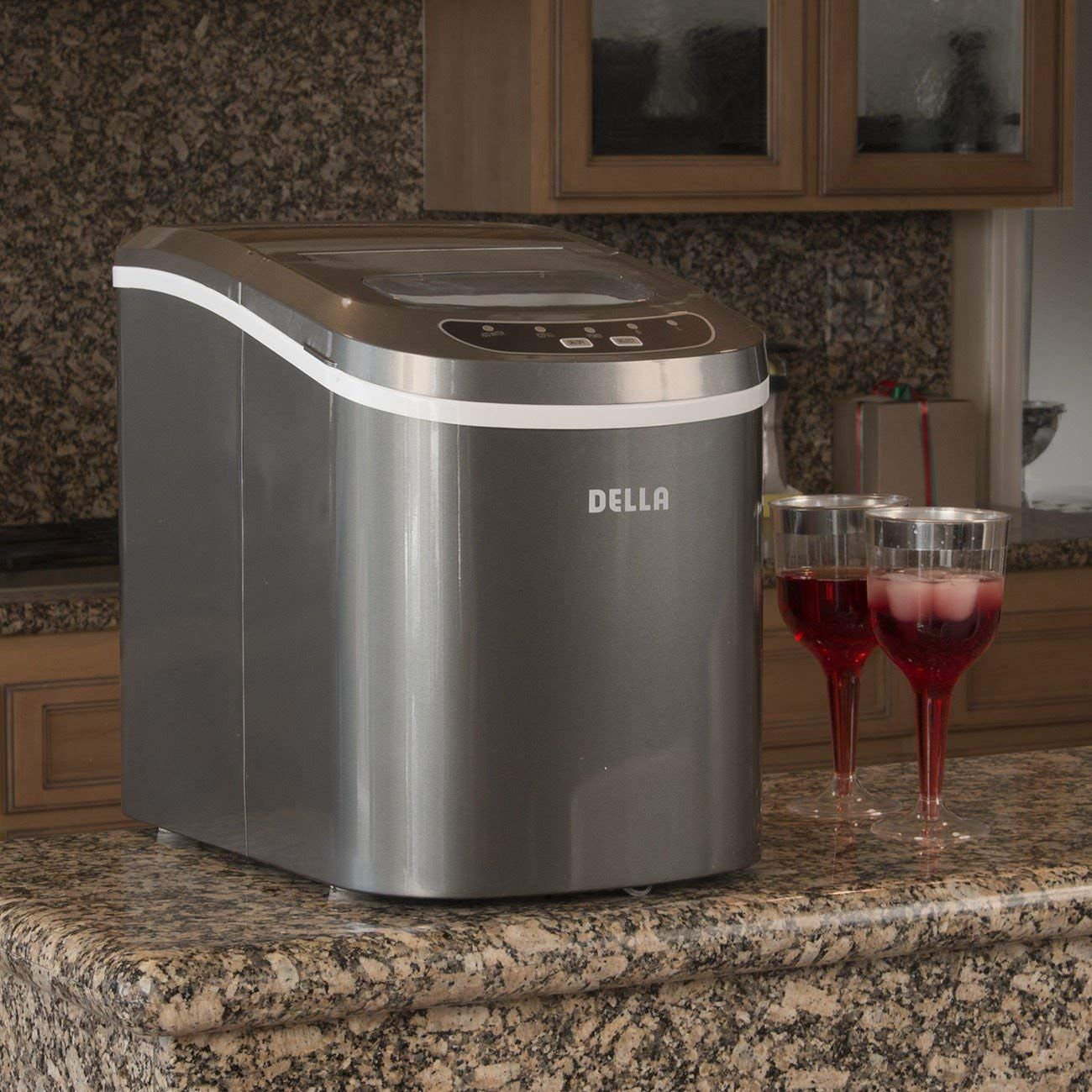 Amazon Com Della Portable Electric Ice Maker Machine Yield Up To