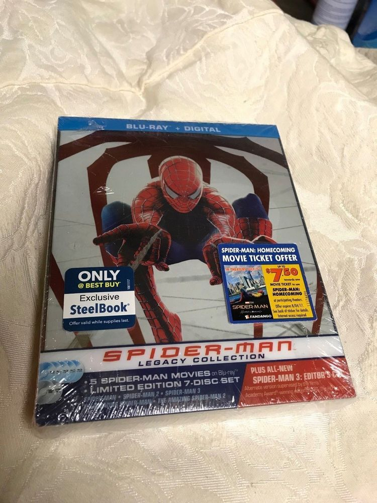 Spider Man Legacy Collection Blu Ray Steelbook Best Buy Release