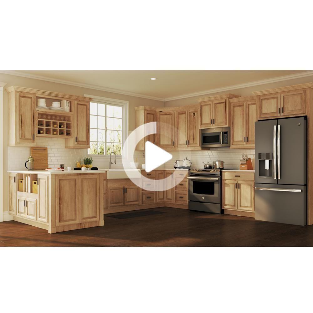 Hampton Bay Hampton Assemblato 24x30x12 In Parete Armadio Da Cucina In Naturale Hickory Kw2430 Nhk In 2020 New Kitchen Cabinets Rustic Kitchen Rustic Kitchen Cabinets