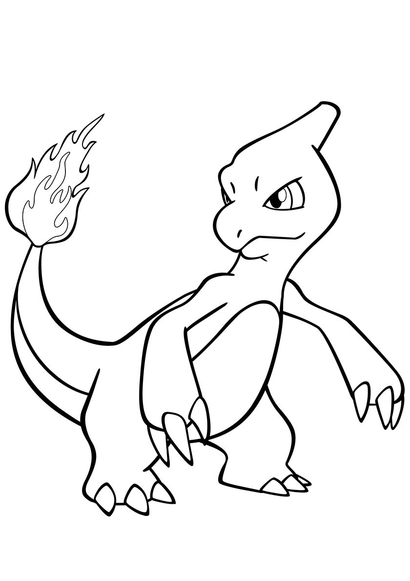 005 Charmeleon High Quality Free Coloring From The Category Pokemon More Printable Pictures On Our W Pokemon Coloring Pokemon Coloring Pages Coloring Pages