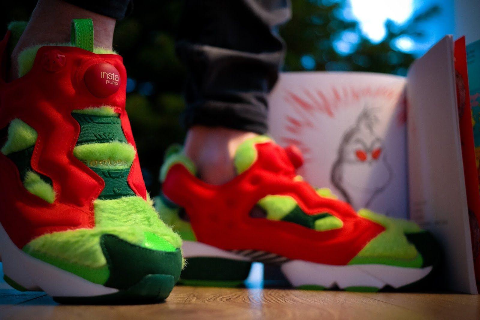 """c4db0c24150b Reebok Instapump Fury CV """"Grinch"""" - Love it or hate it - Der Sneaker für die  Weihnachtszeit sorgt für Furore. Du kennst den Grinch  Du ."""