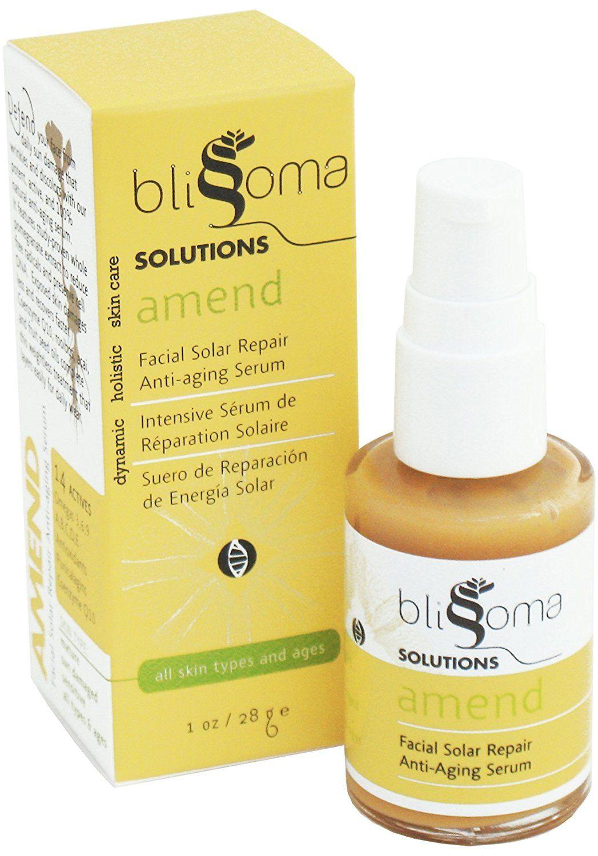 Blissoma Solutions natural skincare Amend Facial Solar