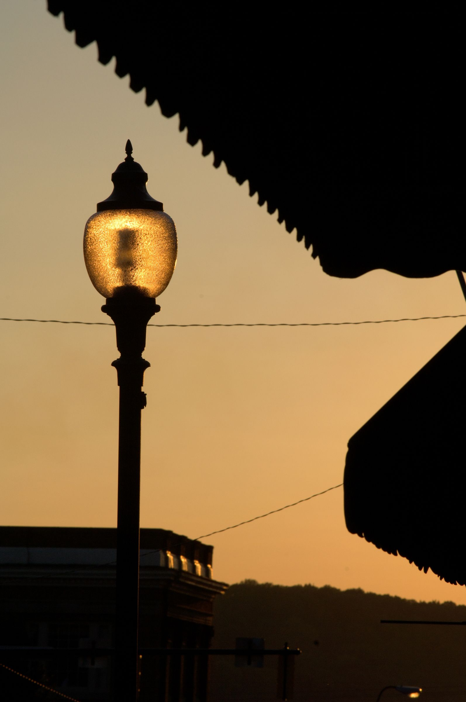 Lamp post on Court St evening Event images
