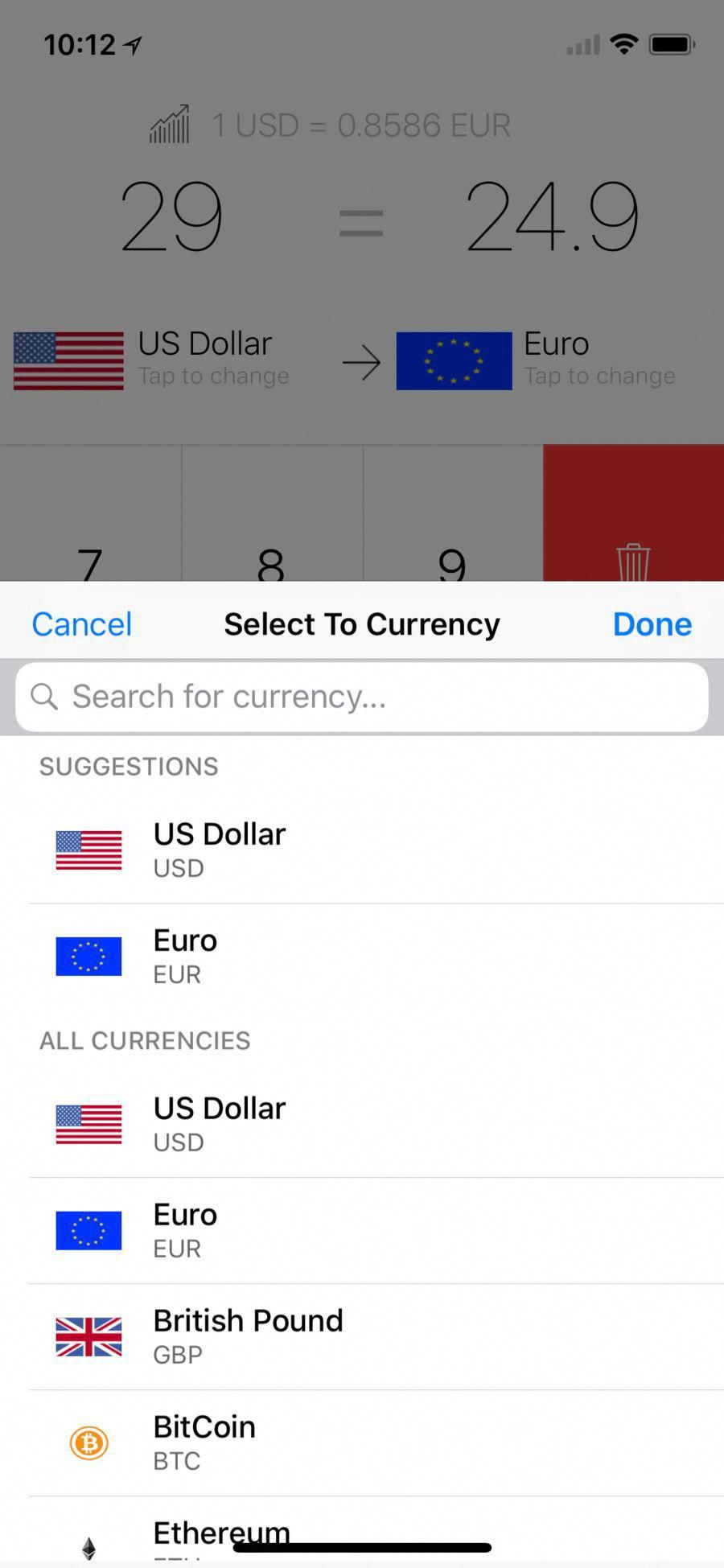 My Currency Converter Digitalcurrency
