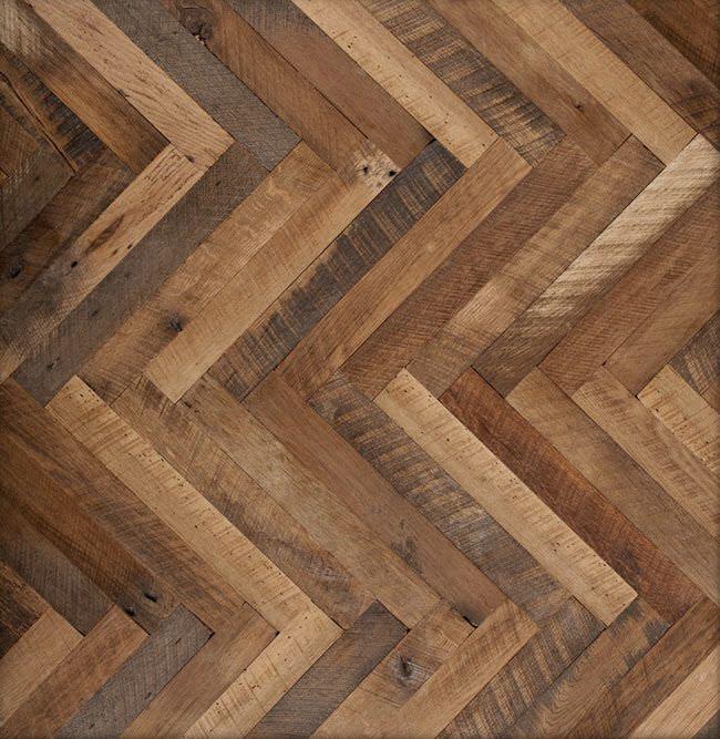 Antique Oak Wood Floor Tile Solid Herring Bone Lv Wood