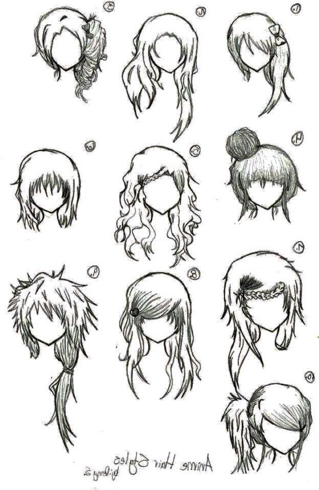 Advanced Hair Type Manga Hair How To Draw Hair Anime Hair
