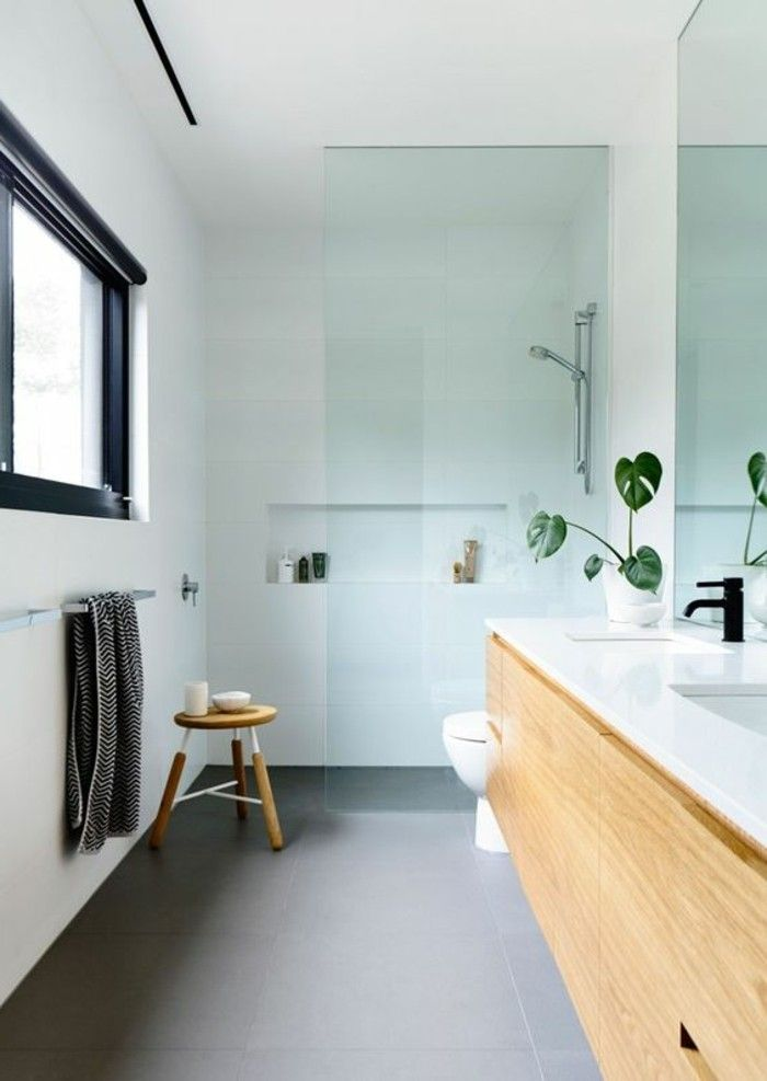Badezimmerwände Ohne Fliesen Fugelloses Kleines Badezimmer  Mit Duschkabine Aus Glas