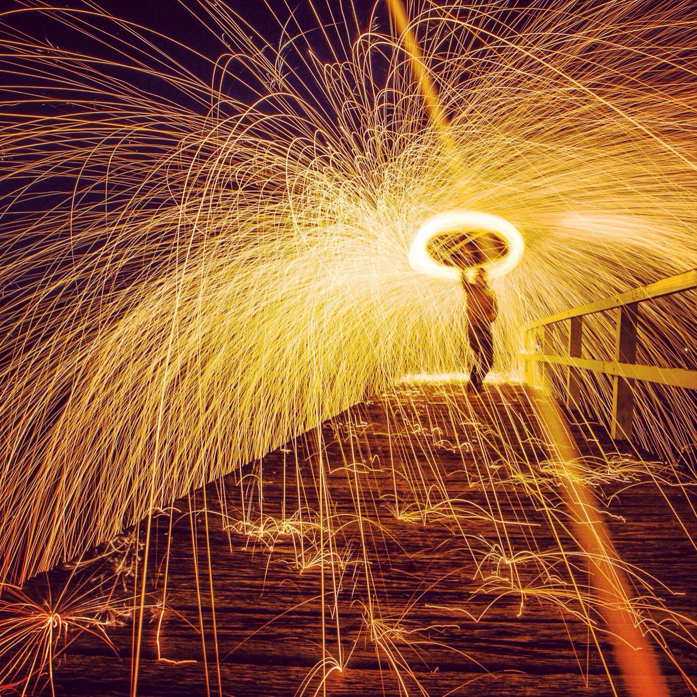 LightpaintLab.com Photo Update Steelwool Spin at Como Pier Sydney, NSW, Australia #lightpainting #photography
