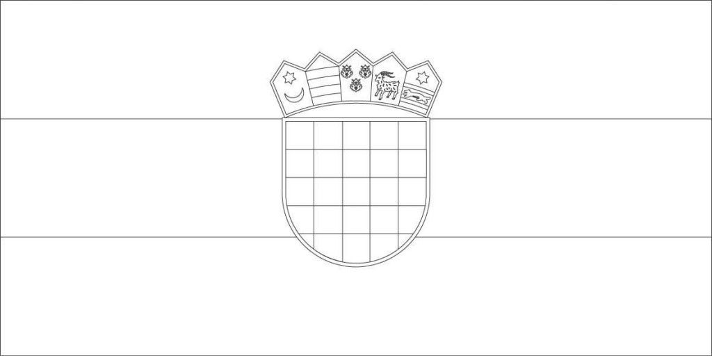 What Does The Croatian Flag Look Like Chasing The Donkey Croatian Flag Flag Coloring Pages Croatia Flag