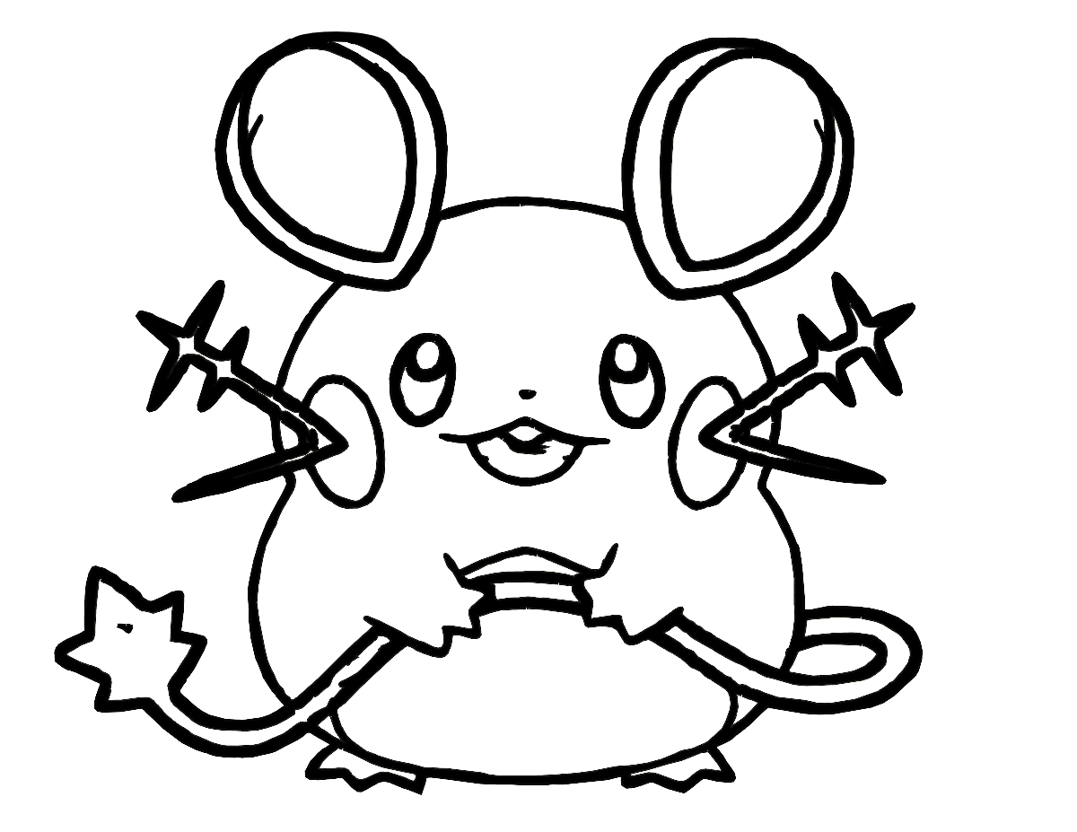 Pokemon Dedenne Coloring Pages For Kids Printable