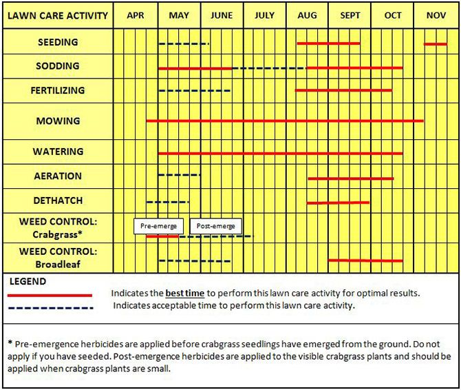 Sustainable Lawn Care Calendar And Growth Cycle Yard And
