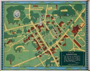 Original 1938 Dartmouth College Souvenir Campus Map Poster | George ...