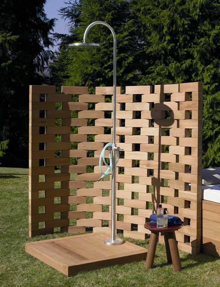 Gartendusche Bauen 70 Inspirierende Gestaltungsideen Gartendusche Duschdesigns Solardusche Garten