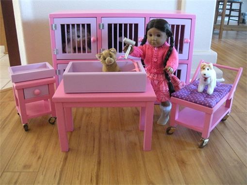 Handmade Vet Center For Your American Girl Pets By Paynes Dollhouse Boutique American Girl Doll Diy American Girl Doll Accessories American Girl Doll Printables