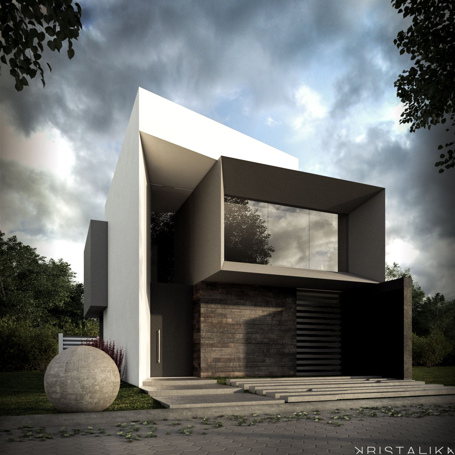 Rsi z house kristalika arquitecture and interior design for Difference between modern and contemporary design