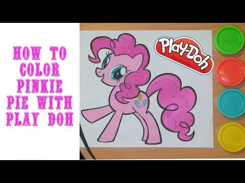 Play Doh Coloring Book: Pinkie Pie - YouTube | Hello kitty ...