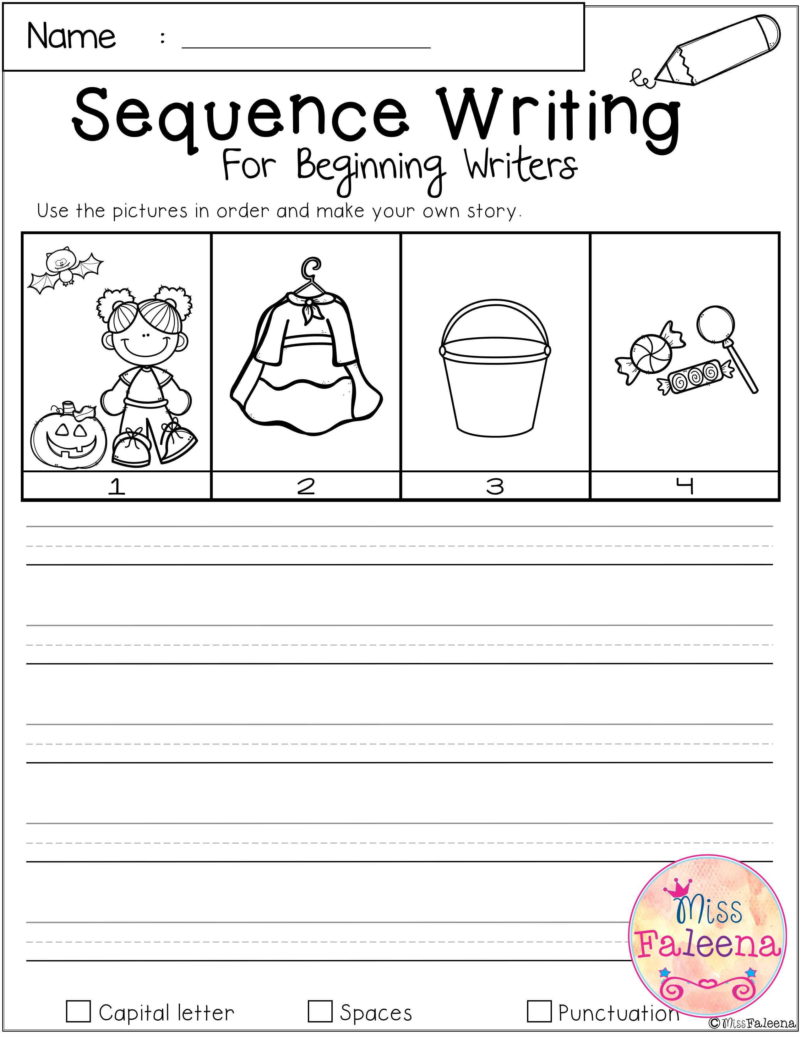 October Sequence Writing For Beginning Writers