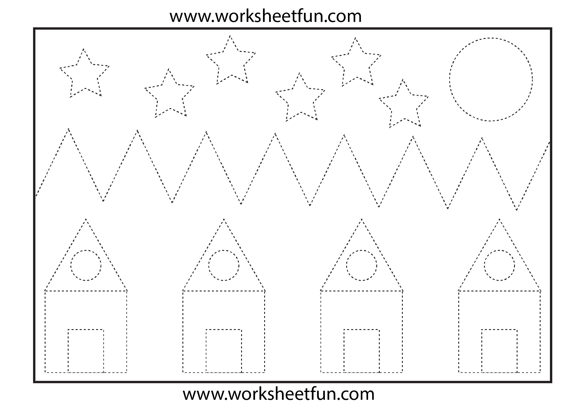Shapes Tracing Worksheets With Images