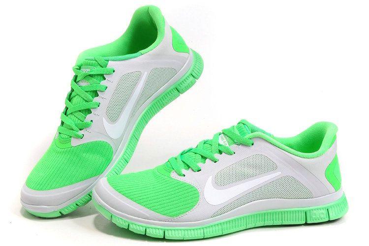 Nike Free 4.0 V3 Dames Lichtgrijs Appelgroene Wit #nike ...