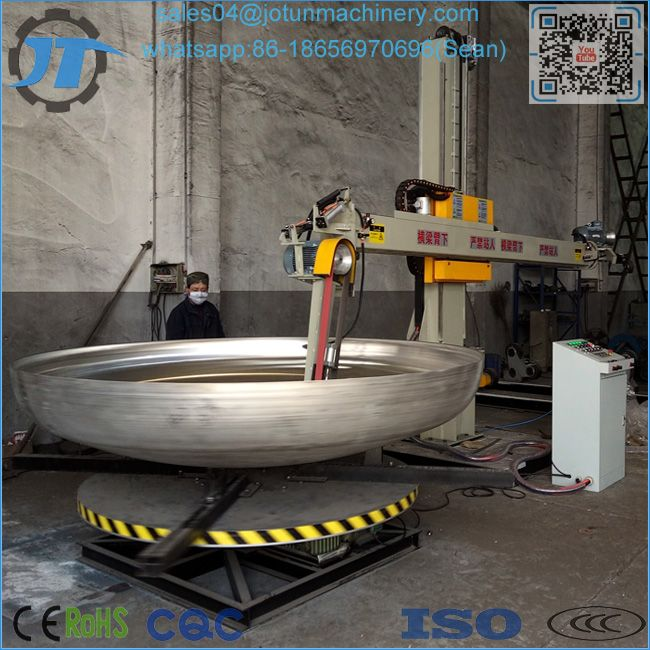 How To Grind Steel Dish Head Inner Surface With JT 2 Automatic Polishing Machine Grinding