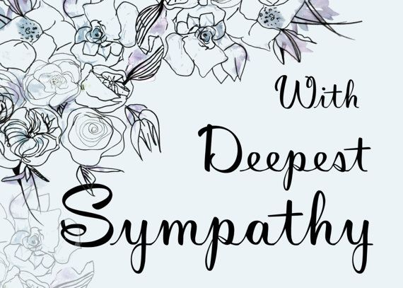 Printable With Deepest Sympathy Card Blue Floral Card Etsy Sympathy Cards Deepest Sympathy Sympathy