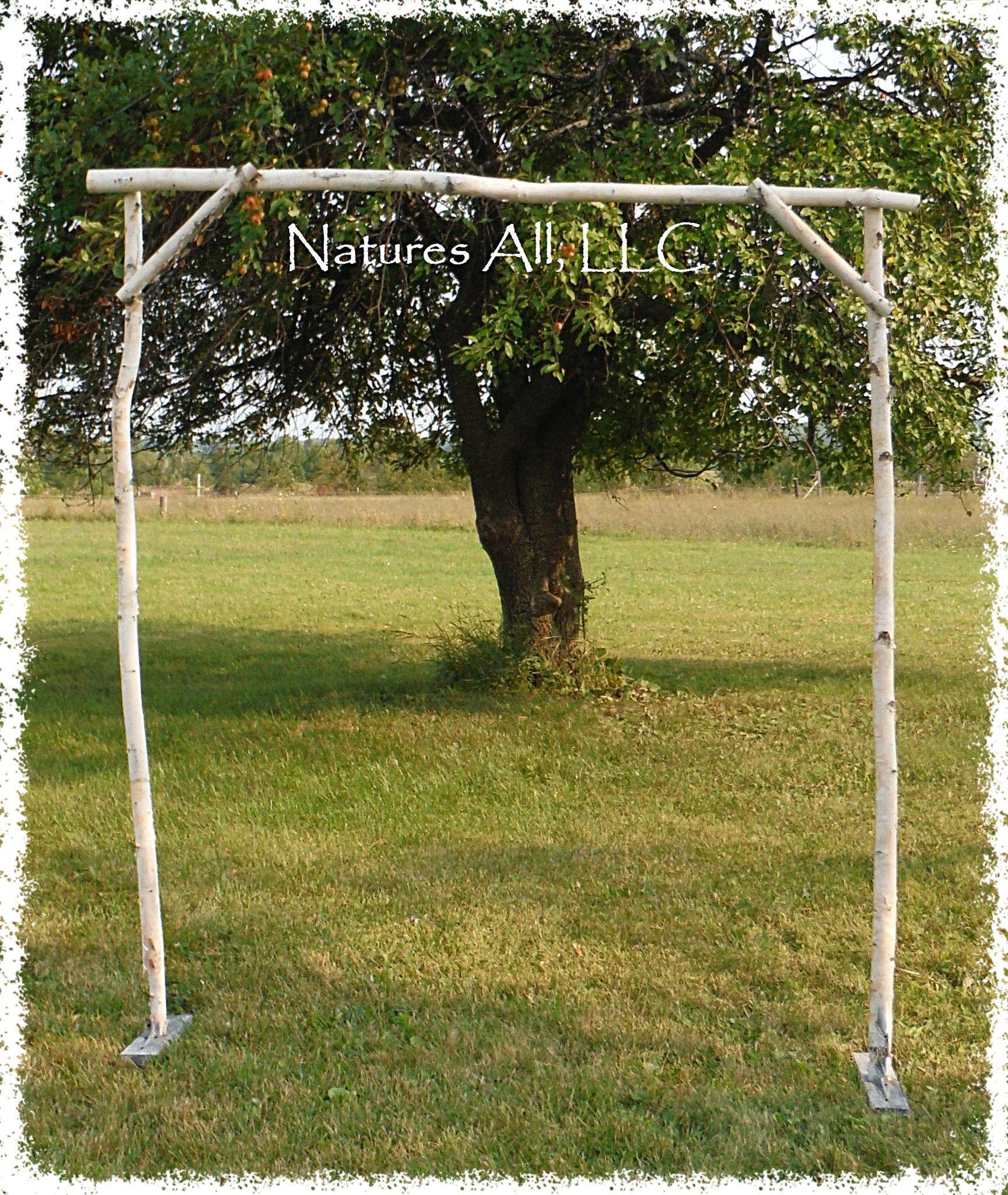 Diy White Birch Wedding Arch Rustic Kit Country
