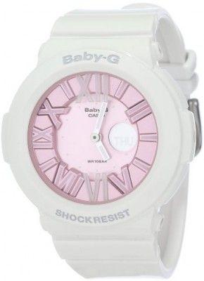 6514f082099 Relógio Casio Women s BGA161-7B2 Baby G White and Pink Watch  relogio  babyg