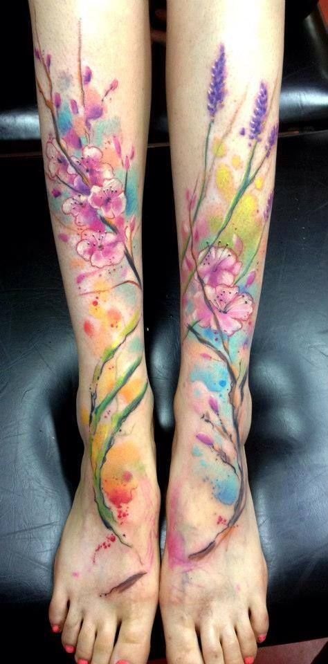 Love The Colors Leg Tattoos Tattoos Cool Tattoos