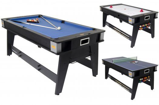 3 In One Table! Pool, Air Hockey, Table Tennis!